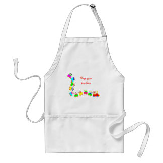Happy Kids Train Adult Apron