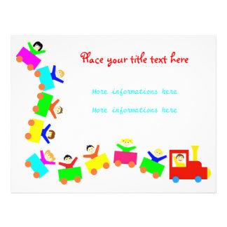 Happy Kids Train Full Colour Flyer