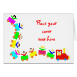 Happy Kids Train Greeting Cards