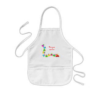 Happy Kids Train Kids' Apron