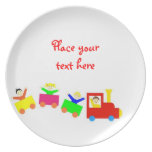 Happy Kids Train Party Plates