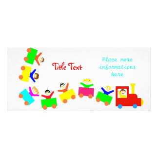 Happy Kids Train Rack Card