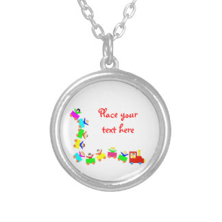 Happy Kids Train Silver Plated Necklace