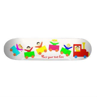 Happy Kids Train Skate Boards