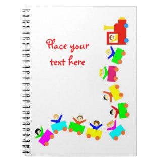 Happy Kids Train Spiral Note Book