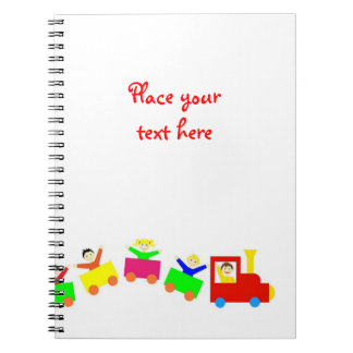 Happy Kids Train Spiral Notebook
