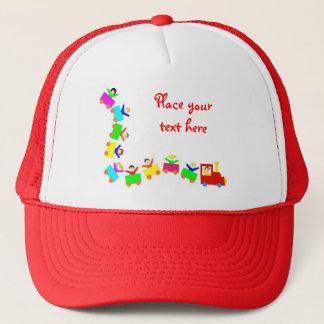 Happy Kids Train Trucker Hat