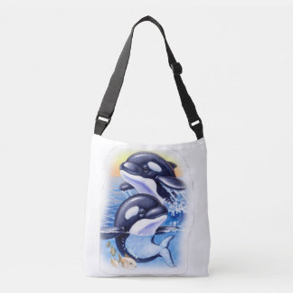 Happy Killer Whales Tote Bag