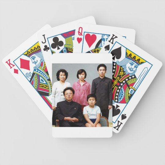 Happy Kim Family Bicycle Playing Cards
