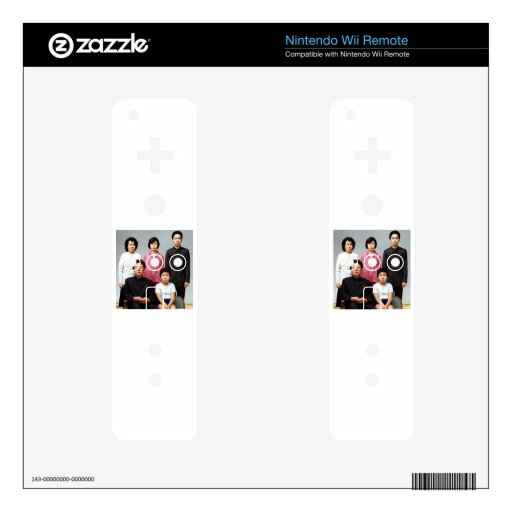 Happy Kim Family Decal For Wii Remote