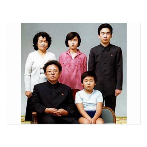 Happy Kim Family Postcard