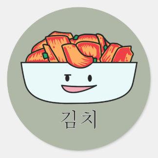 Happy Kimchi Kimchee Bowl - Happy Foods Designs Classic Round Sticker
