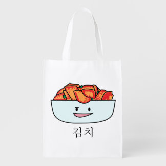 Happy Kimchi Kimchee Bowl - Happy Foods Designs Grocery Bag