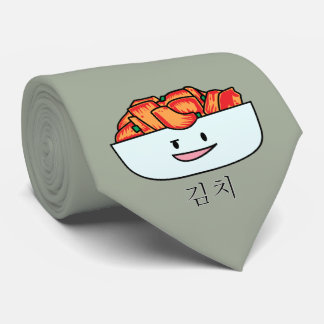 Happy Kimchi Kimchee Bowl - Happy Foods Designs Neck Tie