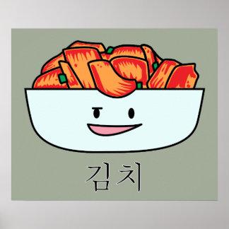 Happy Kimchi Kimchee Bowl - Happy Foods Designs Poster