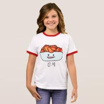 Happy Kimchi Kimchee Bowl - Happy Foods Designs Ringer T-Shirt