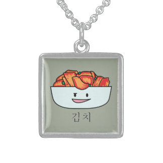 Happy Kimchi Kimchee Bowl - Happy Foods Designs Sterling Silver Necklace