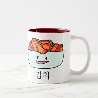 Happy Kimchi Kimchee Bowl - Happy Foods Designs Two-Tone Coffee Mug