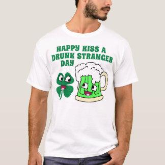 Happy Kiss A Drunk Stranger Day T-Shirt