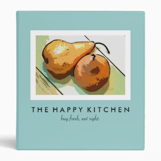 """Happy Kitchen Pear Binder (1"""" binder)"""