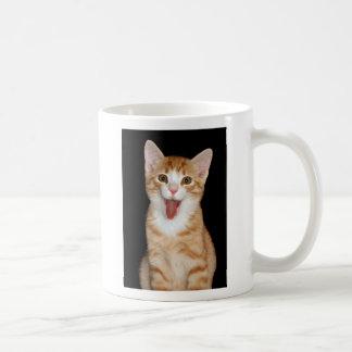 Happy kitten classic white coffee mug