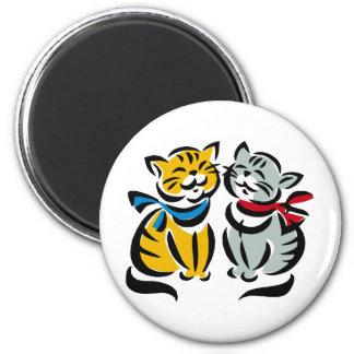 Happy Kittens Fridge Magnet