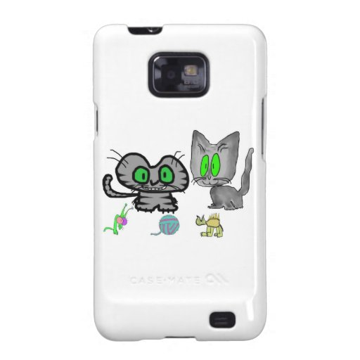 Happy Kitties Show Off There Fun Toys Galaxy S2 Cover