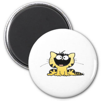 Happy-Kitty 2 Inch Round Magnet