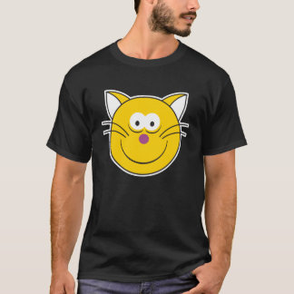 Happy Kitty Cat  Smiley Face T-Shirt