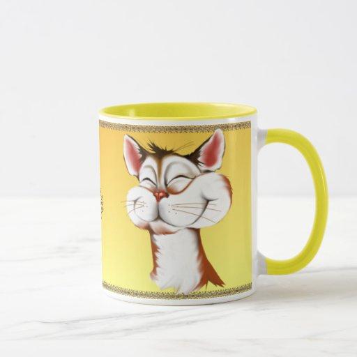 Happy Kitty Face Mug