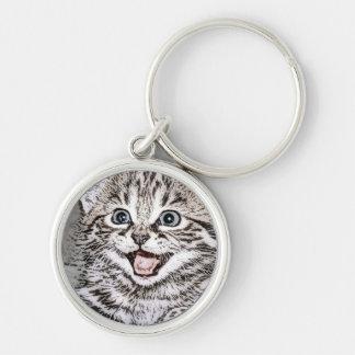Happy Kitty - Grey Keychains