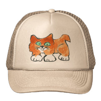 Happy Kitty Out for a Walk Mesh Hat