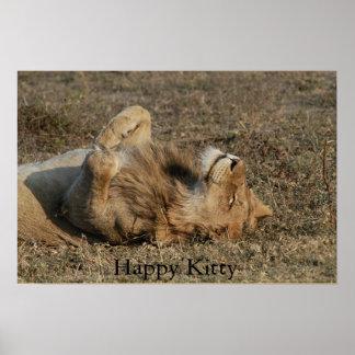 Happy Kitty Poster