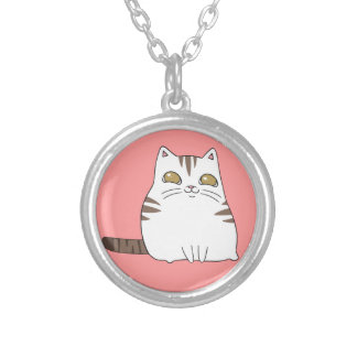 Happy Kitty Silver Plated Necklace