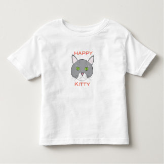 Happy Kitty Toddlers T-Shirt