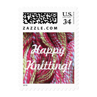 Happy Knitting! Postage Stamp