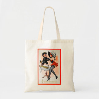 Happy Krampus with Temptress Vintage Christmas Tote Bag