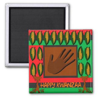 Happy Kwanza 2 Inch Square Magnet