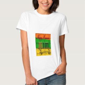 Happy Kwanza Ladies Baby Doll Shirt
