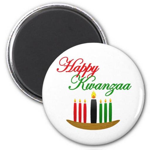 Happy Kwanzaa 2 Inch Round Magnet