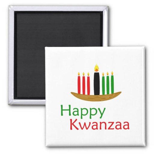Happy Kwanzaa 2 Inch Square Magnet
