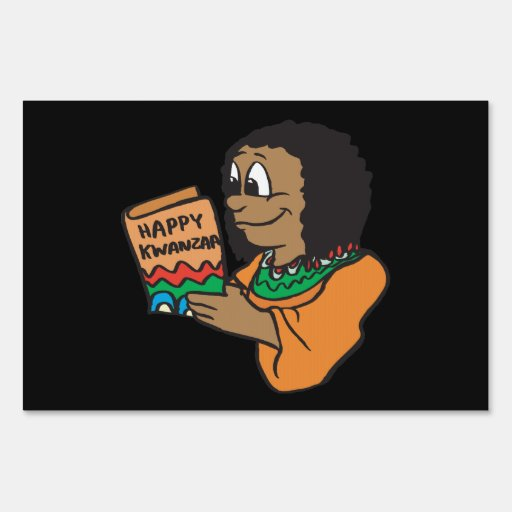 Happy Kwanzaa 4 Yard Sign