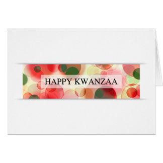 happy kwanzaa (bokeh) card