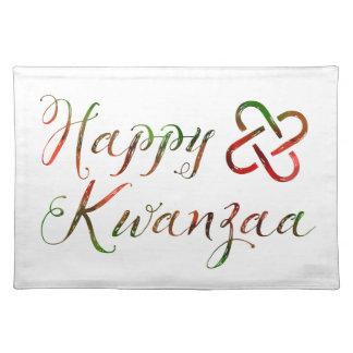Happy Kwanzaa Bokeh Umoja Placemat
