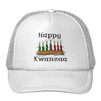 Happy Kwanzaa Candles Mesh Hat
