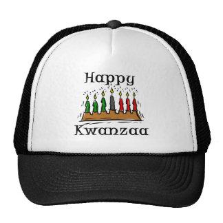 Happy Kwanzaa Candles Trucker Hat