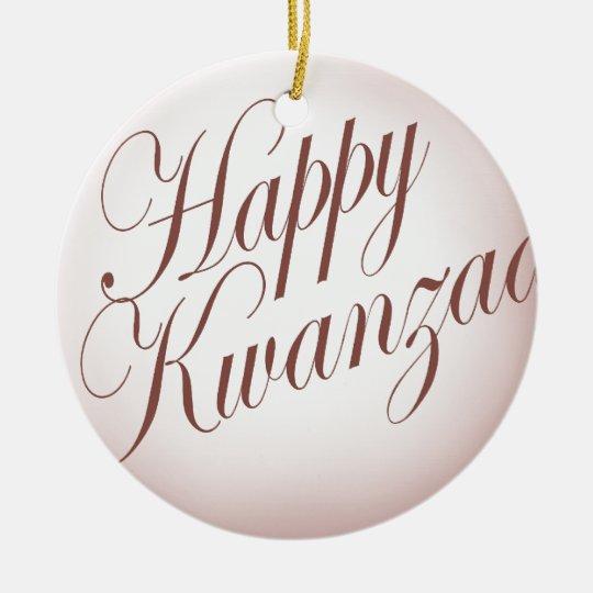 Happy Kwanzaa Ceramic Ornament