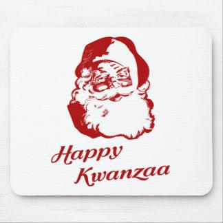 Happy Kwanzaa Christmas Santa Claus Mouse Pad