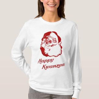 Happy Kwanzaa Christmas Santa Claus T-Shirt