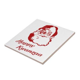 Happy Kwanzaa Christmas Santa Claus Ceramic Tiles